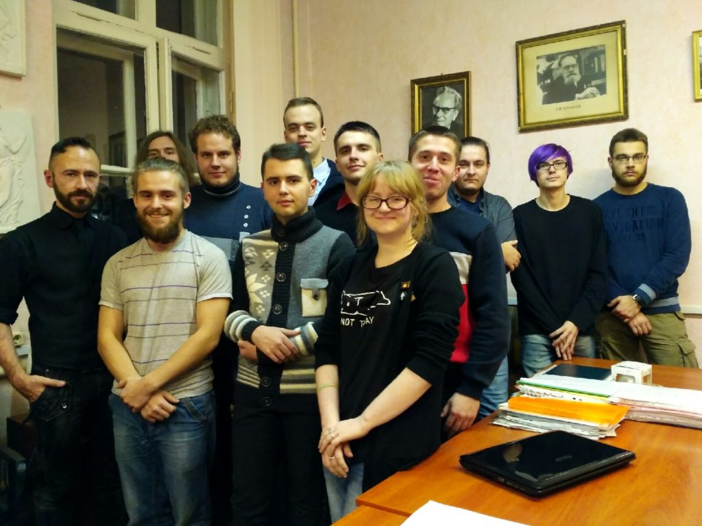 Андрей Торканевский со студентами истфака БГУ